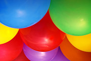 Party Birthday Party Prints - Balloons Background Print by Carlos Caetano