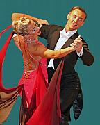 Ballroom Metal Prints - Ballroom Dancers Metal Print by Larry Linton