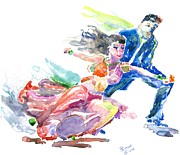 Ballroom Dance Paintings - Ballroom Glide by Marsden Burnell
