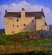 Historical Buildings Paintings - Balnakeil House  Durness by Dawn Noble