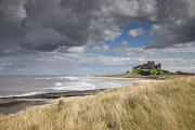 Sandy Beaches Prints - Bamburgh Castle Northumberland, England Print by John Short