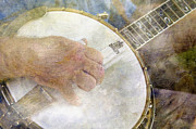 Bluegrass Posters - Banjo - D002330-a Poster by Daniel Dempster