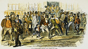 Bank Panic Framed Prints - Bank Panic: 1857 Framed Print by Granger