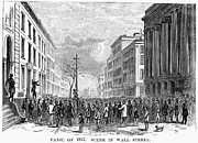 Bank Panic Posters - Bank Panic Of 1857 Poster by Granger