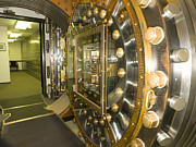 Enterprise Photo Prints - Bank Vault Interior Print by Adam Crowley