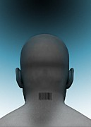 Human Head Art - Barcoded Man, Artwork by Victor Habbick Visions