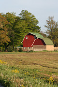 Southern Indiana Prints - Barn at sunset Print by Purcell Pictures