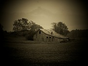Indiana Landscape Posters - Barn In Field Poster by Michael L Kimble