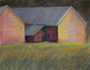 Icons Pastels Prints - Barn on 153 Print by Dona Mara