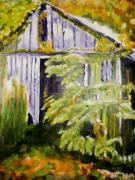 Shed Painting Posters - Barn Poster by Shelley Bain