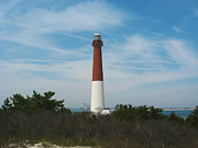 Barnegat Lighthouse Framed Prints - Barnegat Lighthouse - New Jersey Framed Print by Bill Cannon