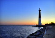Atlantic Coast Framed Prints - Barnegat Lighthouse Framed Print by John Greim