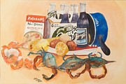 Gumbo Paintings - Barqs Has Bite by Bobby Walters