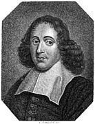 Benedict Photo Framed Prints - Baruch Spinoza (1632-1677) Framed Print by Granger