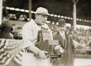 Baseball Player Framed Prints - BASEBALL: CAMERA, c1911 Framed Print by Granger