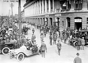 Philadelphia Scene Photos - Baseball. Crowds At Shibe Park by Everett