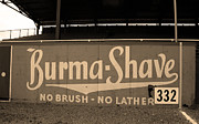 Baseball Game Framed Prints - Baseball Field Burma Shave Sign Framed Print by Frank Romeo