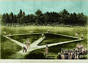 Ball Fields Posters - Baseball In 1846 Poster by Omikron