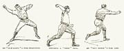 Baseball Pitching, 1889 Print by Granger