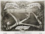 Baseball Bat Prints - Baseball Polka, 1867 Print by Granger