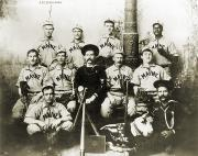 Baseball Bat Photo Framed Prints - BASEBALL TEAM, c1898 Framed Print by Granger
