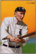 Baseball Bat Photo Metal Prints - Baseball. Ty Cobb Baseball Card Metal Print by Everett