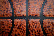 Dunk Metal Prints - Basketball - Leather Close Up Metal Print by Ben Haslam