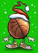 Basketball Christmas Print by Kevin Middleton