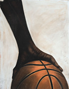 Sports Art Pastels Originals - Basketball by L Cooper