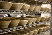 Metal Shelves Framed Prints - Baskets at a Bakery Framed Print by Inti St. Clair
