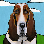 Dog Breeds Paintings - Basset Hound by Leanne Wilkes