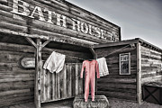 In The Bath Metal Prints - Bath House in Old Tucson Metal Print by Wendy White