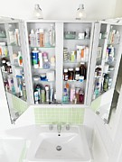 Wall-mounted Prints - Bathroom Cabinet Print by Tek Image