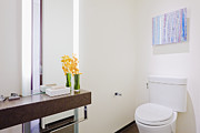 Commode Posters - Bathroom Space Poster by Jeremy Woodhouse