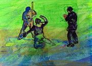 Home Plate Paintings - Batter UP by Gail Eisenfeld