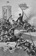 U.s Army Prints - Battle Of Chapultepec, 1847 Print by Granger