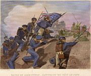 U.s Army Prints - Battle Of Churubusco, 1847 Print by Granger