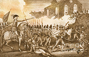 Colonial Man Prints - Battle Of Concord, 1775 Print by Photo Researchers