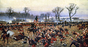 Fine American Art Metal Prints - Battle Of Fredericksburg Metal Print by Granger