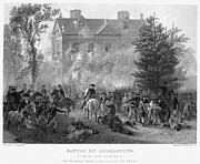 Germantown Photo Framed Prints - Battle Of Germantown, 1777 Framed Print by Granger