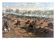 Battle Painting Framed Prints - Battle of Gettysburg Framed Print by War Is Hell Store
