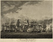 Sailing Ships Prints - Battle Of Lake Erie. American Print by Everett