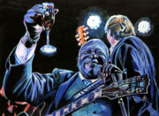 Guitar Drawings Posters - BB King Poster by Chris Benice