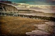 Beach Digital Art - Beach and Cliffs at Rottingdean by Chris Lord