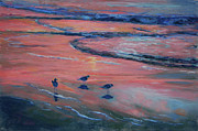 Texas Pastels Originals - Beach Combers by Billie Colson