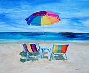 Ocean Paintings - Beach Heaven 2 by Diane Kraudelt