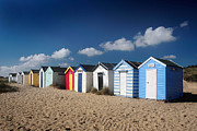 Beach Huts Digital Art Prints - Beach Huts Print by Martin  Fry