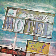 Motel Painting Prints - Beach Motel Print by Anthony Ross