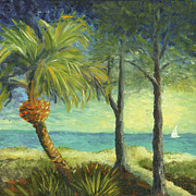 Sailboat Ocean Paintings - Beach Path by Tammy Olson