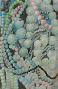 Beads Jewelry Posters - Beads Poster by Diane montana Jansson